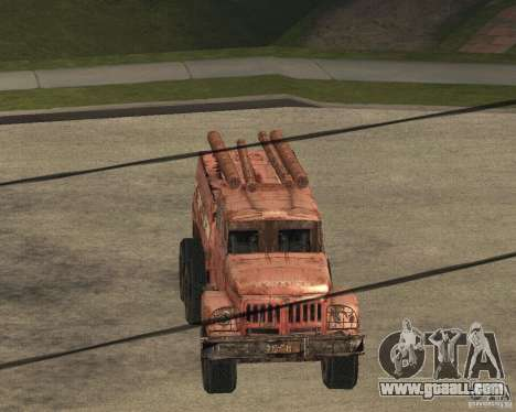 ZIL 131 for GTA San Andreas inner view