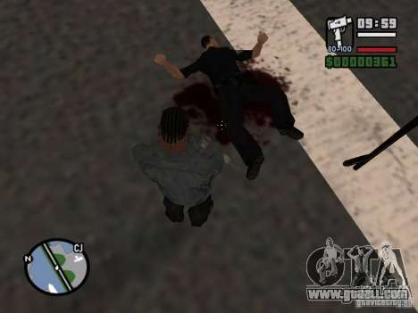 New pattern of blood for GTA San Andreas