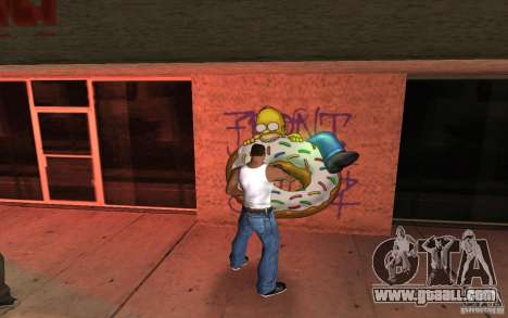 Homer Graffiti Mod for GTA San Andreas second screenshot