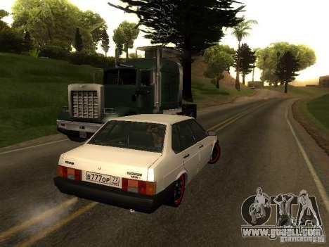 VAZ 21099 v. 2 for GTA San Andreas back left view