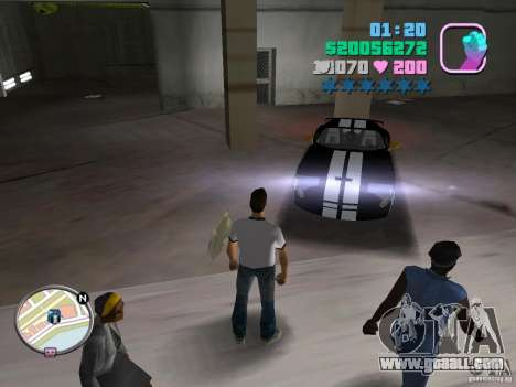 Dodge Viper Hennessy 800 for GTA Vice City left view