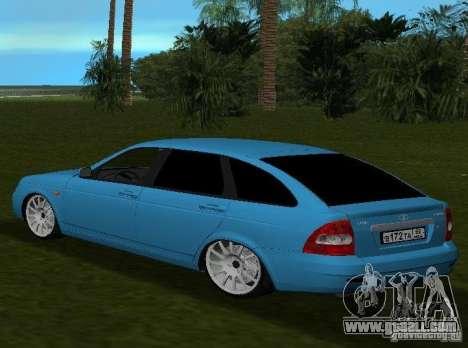 Lada Priora Hatchback v2.0 for GTA Vice City back left view