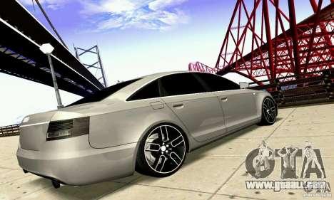 Audi A6 Blackstar for GTA San Andreas inner view