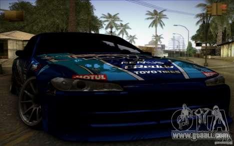 Nissa Silvia S15 Toyo for GTA San Andreas back left view
