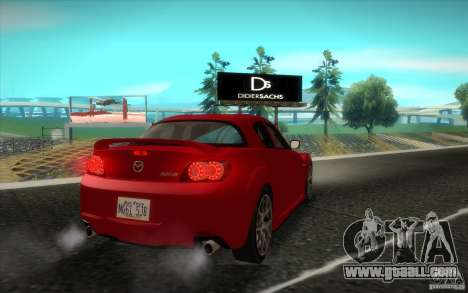 Mazda RX-8 R3 2011 for GTA San Andreas back view
