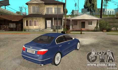 Hyundai Genesis for GTA San Andreas back left view