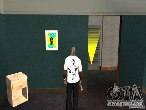 Chuck Norris t-shirt for GTA San Andreas second screenshot