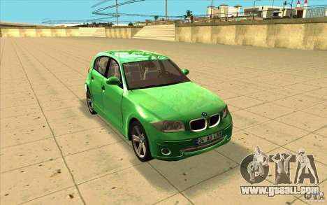 BMW 118i for GTA San Andreas back view