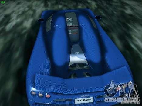 Koenigsegg CCXR Edition for GTA San Andreas right view