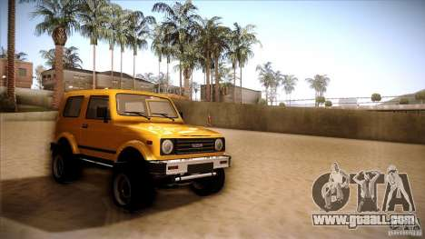 Suzuki Samurai for GTA San Andreas back left view