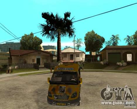 Gaz Gazelle 2705 Minibus for GTA San Andreas back view