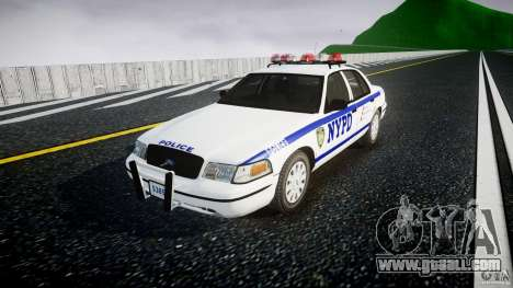 Ford Crown Victoria Police Department 2008 NYPD for GTA 4 right view