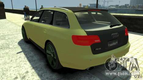 Audi RS6 Avant 2010 Carbon Edition for GTA 4 back left view