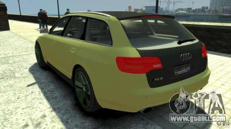 Audi RS6 Avant 2010 Carbon Edition for GTA 4 back left view