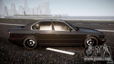 BMW 5 Series E34 540i 1994 v3.0 for GTA 4 side view