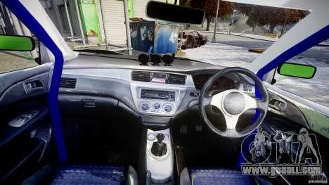 Mitsubishi Lancer Evolution 8 for GTA 4 right view