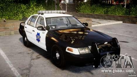 Ford Crown Victoria SFPD K9 Unit [ELS] for GTA 4
