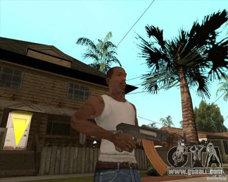 AK74U for GTA San Andreas third screenshot