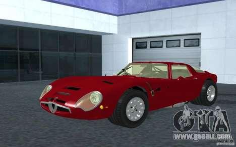 Alfa Romeo Gulia TZ2 1965 for GTA San Andreas