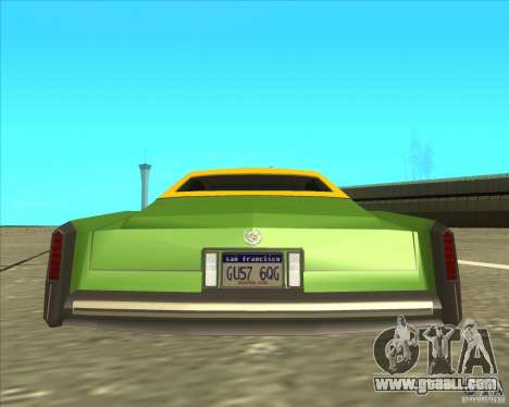 Cadillac Eldorado for GTA San Andreas back view