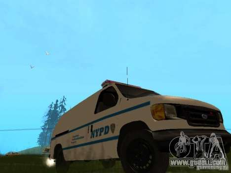 Ford E-150 NYPD Police for GTA San Andreas left view