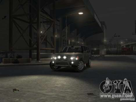 Range Rover Supercharged 2008 for GTA 4 upper view