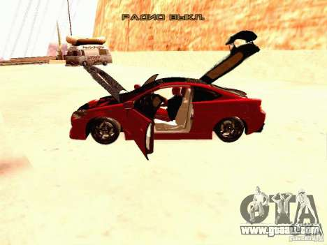 Acura RSX Drift for GTA San Andreas inner view
