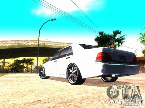 Mercedes-Benz S600 AMG for GTA San Andreas back left view