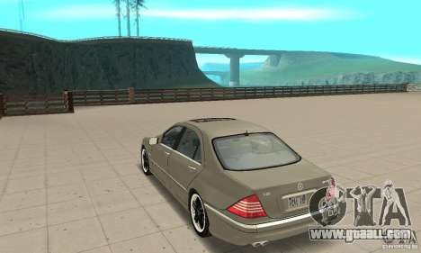 Mercedes-Benz S65 AMG 2004 for GTA San Andreas back left view