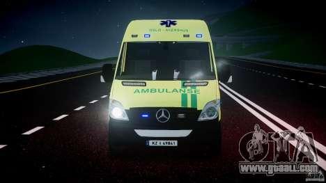 Mercedes-Benz Sprinter PK731 Ambulance [ELS] for GTA 4 upper view