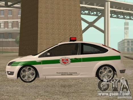 Ford Focus ST Policija for GTA San Andreas left view