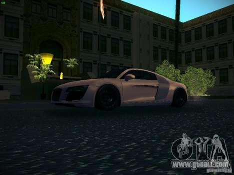 Audi R8 V10 for GTA San Andreas left view