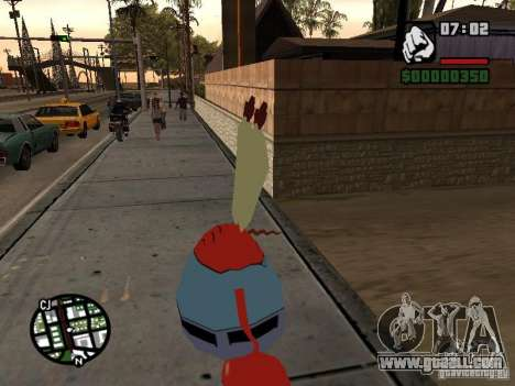 Mr. Krabs for GTA San Andreas forth screenshot