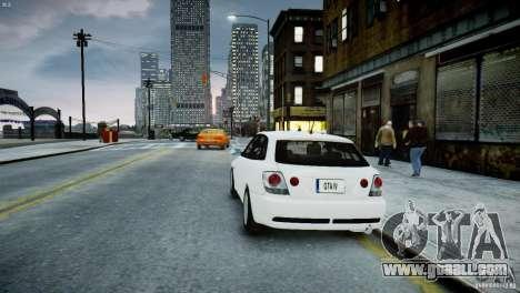 Toyota Altezza Gita Version 2 for GTA 4 back left view