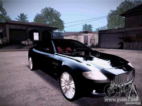 Maserati Quattroporte 2010 for GTA San Andreas side view