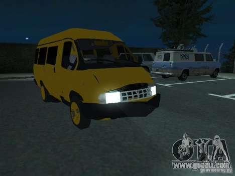 Gazelle taxi for GTA San Andreas side view