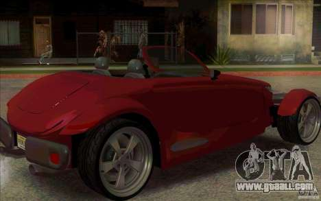 Plymouth Prowler for GTA San Andreas back left view