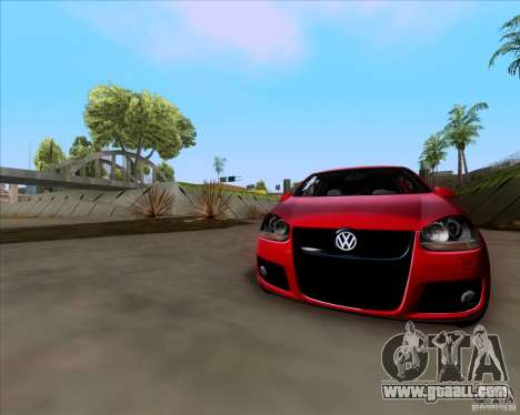 Volkswagen Golf MK5 GTI Stance for GTA San Andreas back view