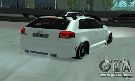 Audi S3 Full tunable for GTA San Andreas back left view