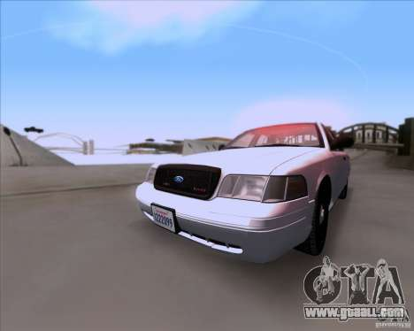 Ford Crown Victoria 2009 Detective for GTA San Andreas left view
