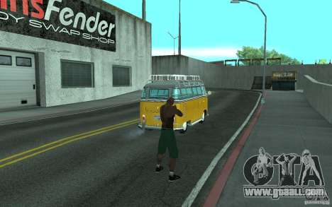 Volkswagen Transporter T1 SAMBAQ CAMPERVAN for GTA San Andreas back left view