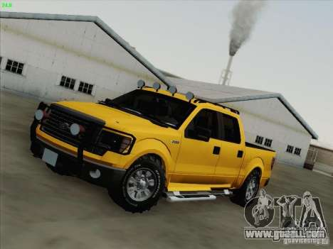 Ford F-150 for GTA San Andreas interior