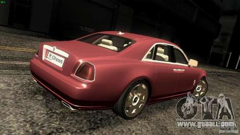 Rolls-Royce Ghost 2010 V1.0 for GTA San Andreas right view