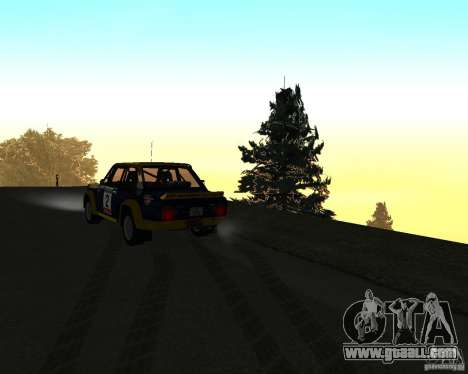 Fiat 131 Rally for GTA San Andreas upper view