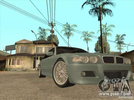 BMW E38 M7 for GTA San Andreas back view