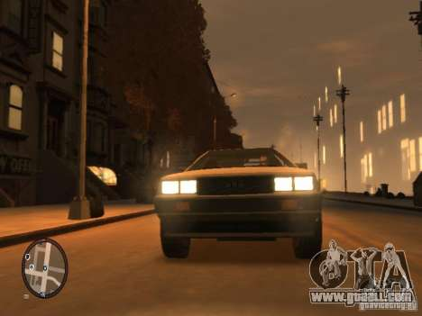 De Lorean DMC 12 for GTA 4 left view