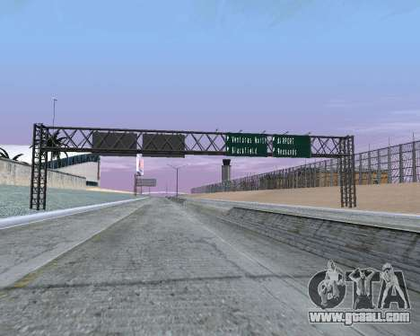 Road signs v1.2 for GTA San Andreas second screenshot