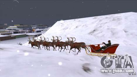 Does Santa's team for GTA San Andreas left view