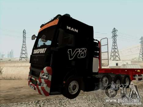 MAN TGX 8x4 for GTA San Andreas right view