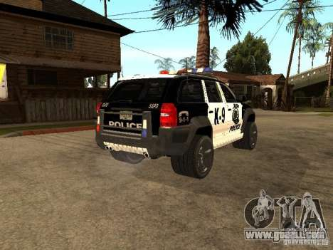 Jeep Grand Cherokee police K-9 for GTA San Andreas back left view